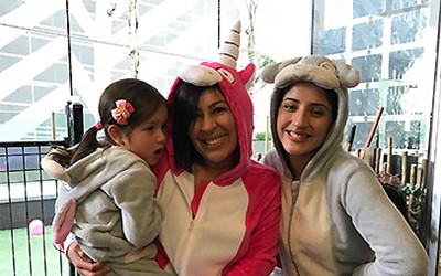 PJ Party Lollipops Britomart daycare staff and children