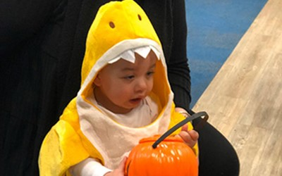 Children celebrating Halloween at Lollipops Britomart daycare.