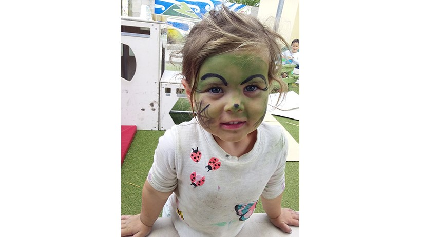 Child celebrating Halloween at Lollipops Papamoa childcare